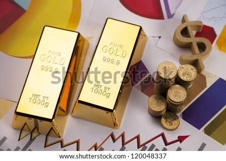 Gold bars on colorful diagrams!