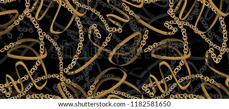 gold belt and chain pattern design