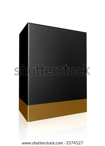 gold black thick product box packaging