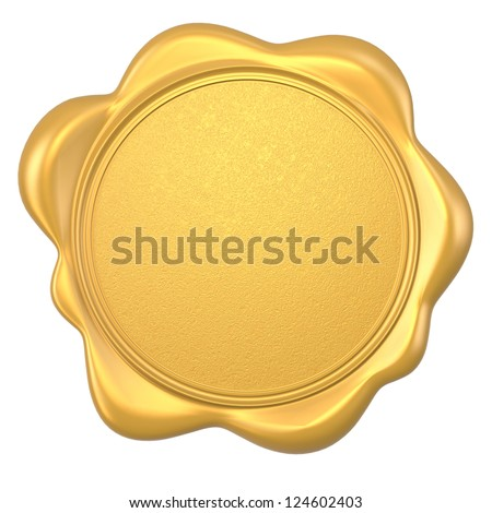 gold blank wax seal available input any  text