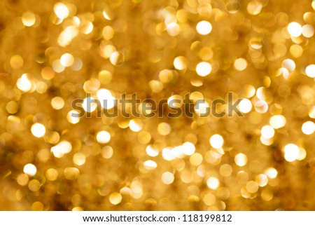 Gold Lights Backgrounds Gold blurred light.