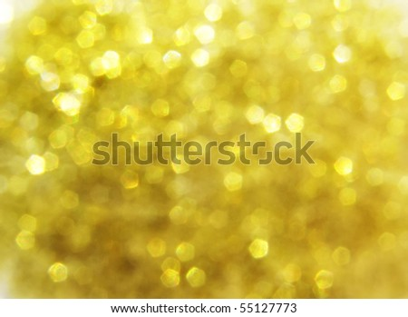 gold blurry lights, raster illustration - stock photo