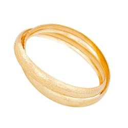 gold bracelet on a white background