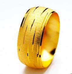 Gold bracelets isolated