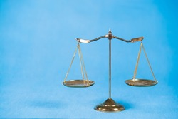 Gold brass balance scale,weight balance,  Law concept