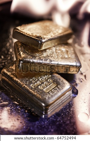 gold bullion and  flame. concept. safe investments.