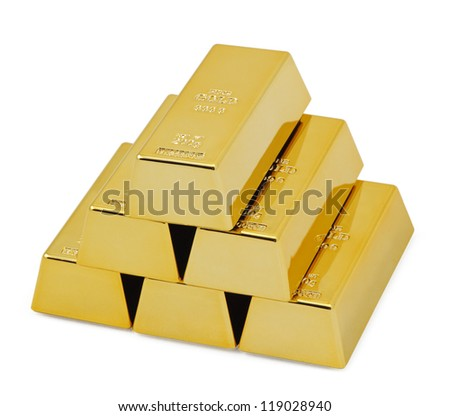 Gold bullion bars.