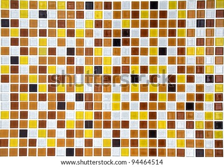 gold ceramic mosaic tile background