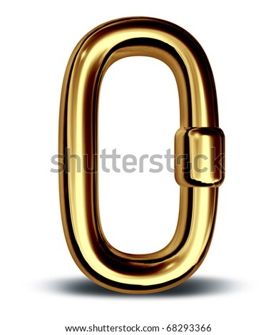 gold chain link single security symbol icon business financial strenght
