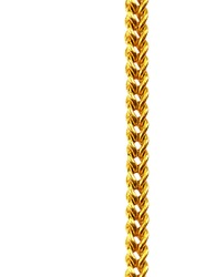 Gold chain necklace isolated on white, closeup , clipping path