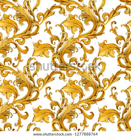 gold chains seamless pattern. luxury illustration. golden heart. love design.  luxury jewelry. riches seamless background.