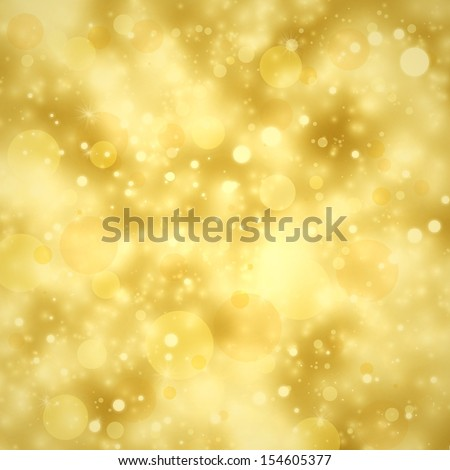 gold Christmas background lights or new years eve celebration lights