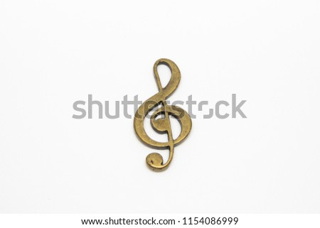 Gold Clef key ring