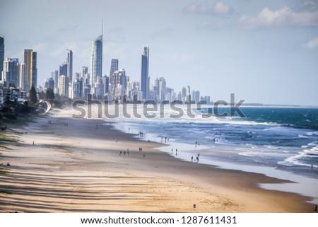 Gold Coast beach Queensland Australia