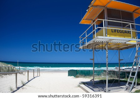 gold coast beaches australia. stock photo : Gold coast beach