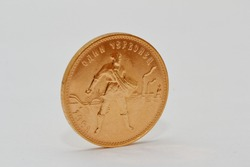 gold coin sower close up