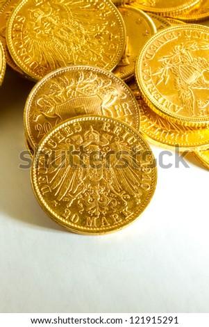 Gold coins treasure
