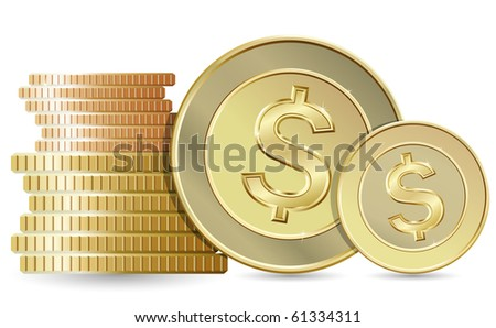 Gold coins (vector version in portfolio)