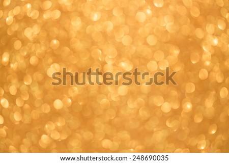 Gold color abstract bokeh texture