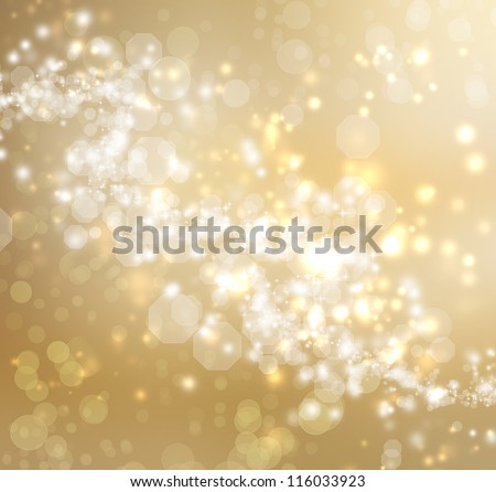 Gold Colored Abstract Lights Background