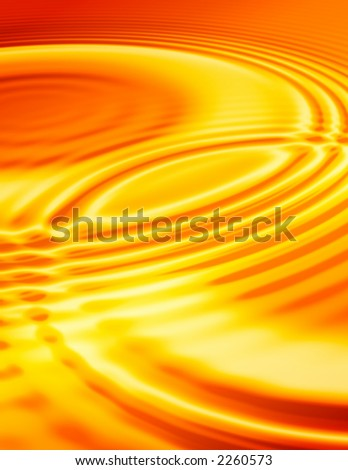gold colored  liquid ripples