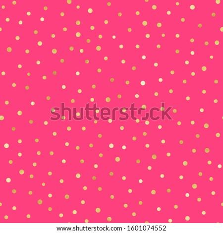 Gold Confetti Seamless Pattern - Festive gold confetti repeating pattern design Stock photo ©