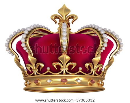 Gold crown with jewels - Shutterstock ID 37385332