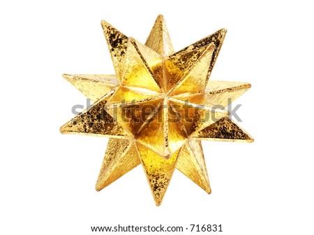 Gold Decorative Christmas Star