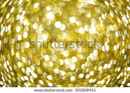 Gold defocused lights background. abstract Gold lights