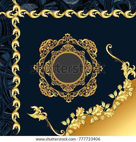 gold dizayn scarf  Stok fotoğraf ©
