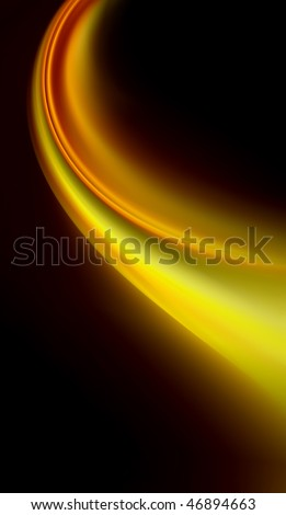 Gold dust and shining yellow smoke abstract background