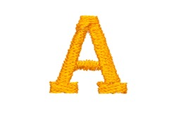 Gold Embroidery Designs alphabet A isolate on white background