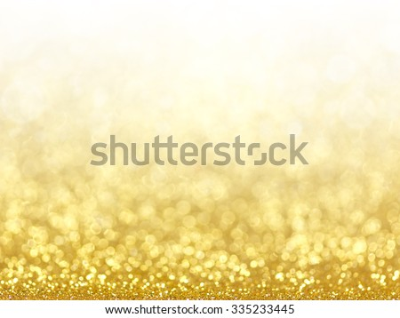 Gold Festive Christmas background. Abstract twinkled bright background with bokeh defocused golden lights #335233445