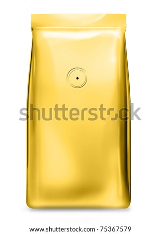 gold foil bag with air valve