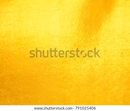 gold foil texture background Shiny yellow leaf - Shutterstock ID 791025406