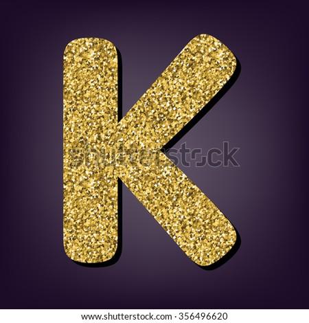 Orange Gold Alphabet Symbol Letter K Water Splashes And Drops On