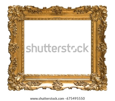 Gold frame for paintings, mirrors or photos | EZ Canvas