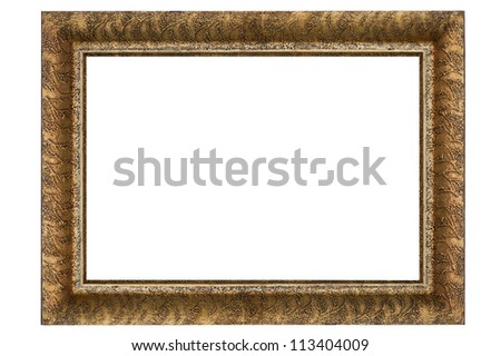 Gold frame, Golden Plated Wooden Picture Frame