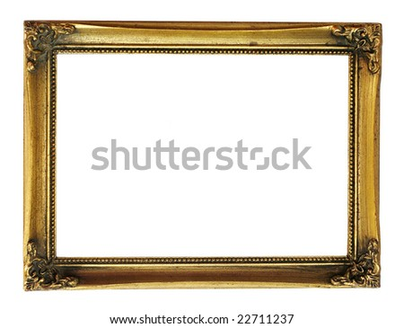 gold frame with decorative pattern