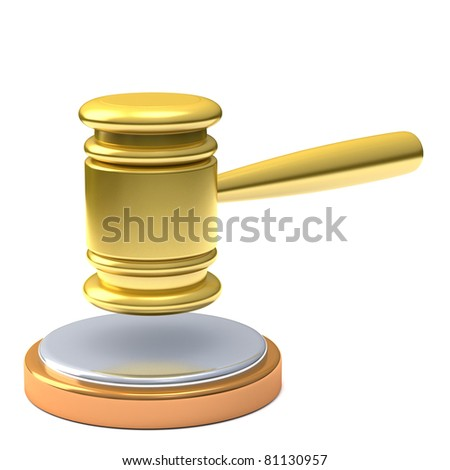 Gold gavel 3d