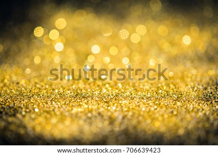 Gold glitter lights bokeh abstract background. #706639423