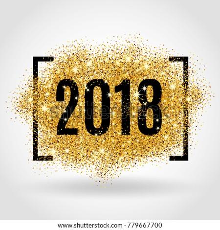 Gold glitter New Year #779667700
