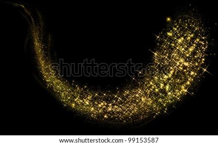 Gold glittering stars dust trail #99153587