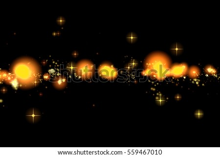 gold glow glittering stars bokeh tail transition sparkle explosion effect on black background, holiday happy new year concept #559467010