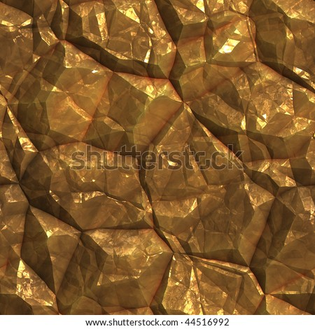 Gold golden metal ore deposits seamless background texture