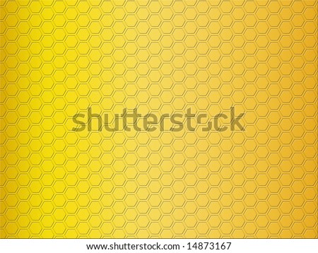 stock photo : Gold gradient background with honeycomb pattern