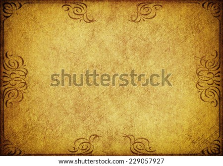 gold grunge paper background with vintage victorian style , paper background for your message