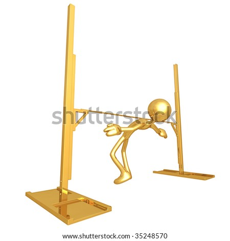 Gold Guy Pole Vault Bar Limbo
