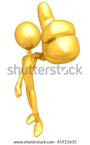 Gold Guy Thumbs Up Approval