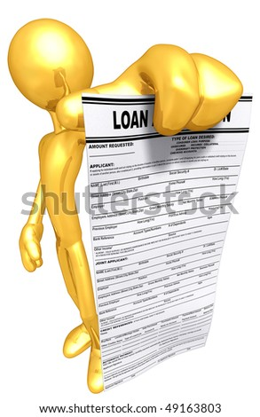Gold Guy With Loan Application